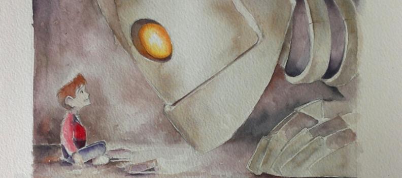 Iron Giant Watercolour #4